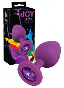 Colorful JOY - szilikon anál dildó - közepes (lila)