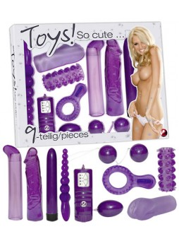 Lila szexmámor - vibrátoros készlet (9 részes)