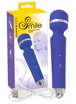 Smile Wand - akkus, masszírozó vibrátor (kék)