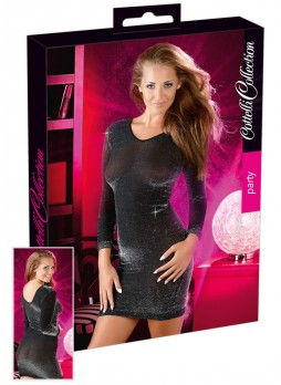 Cottelli - Csillogó ruha (fekete-ezüst)