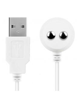 Satisfyer - mágneses USB-töltőkábel (fehér)